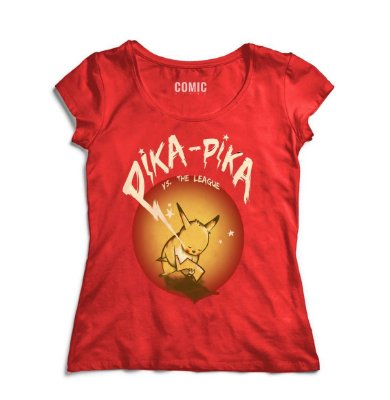 Camiseta Feminina  Pikachu - Pika Pika