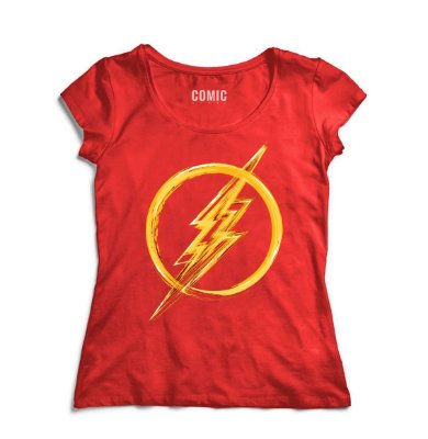 Camiseta Feminina  Flash Simbolo