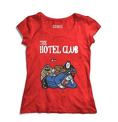 Camiseta Feminina  Frankenstein Hotel Club