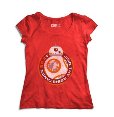 Camiseta Feminina  BB-8 Star Wars