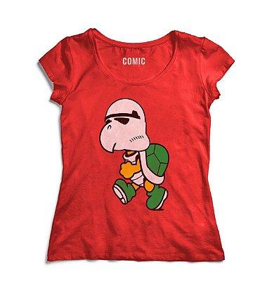 Camiseta Feminina  Stormtrooper Tartaruga