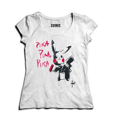 Camiseta Feminina  Pikachu - Pika
