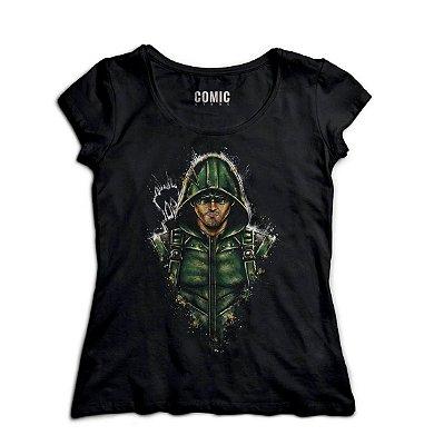 Camiseta Feminina  Arrow - Oliver Queen / Arqueiro Verde