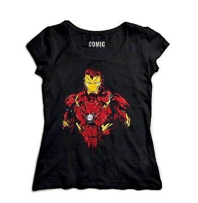Camiseta Feminina  Homem de Ferro - Filme