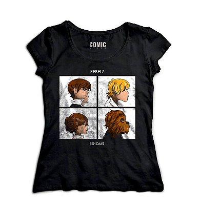 Camiseta Feminina  Star Wars Movie