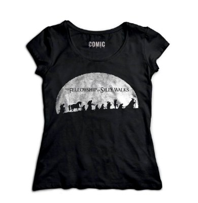 Camiseta Feminina  The Fellowship of Silly Walks