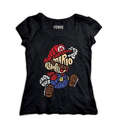 Camiseta Feminina  Super Mario Bros