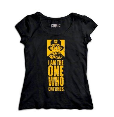 Camiseta Feminina  Pokemon - I am the one who catches