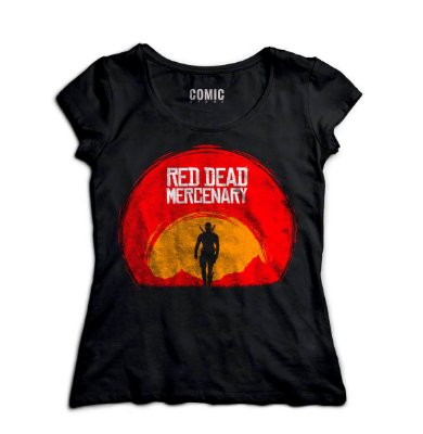 Camiseta Feminina  Deadpool Red Dead Marcenary