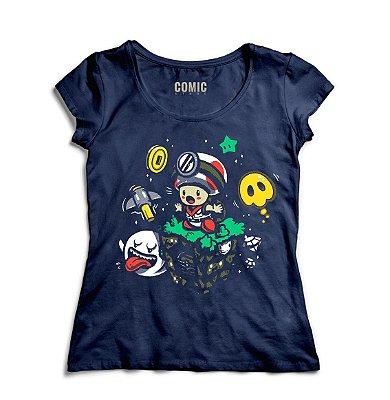 Camiseta Feminina Mario Captain Toad