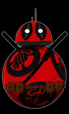 Camiseta BB-8 e Deadpool