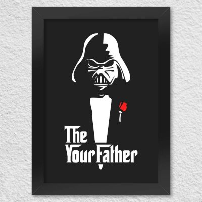 Poster com Moldura Geek Side - The Your Father Presentes Criativos