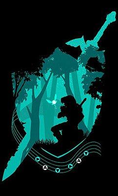 Camiseta Zelda Link Florest - Game