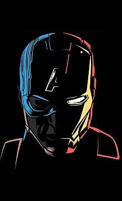 Camiseta Capitão America e Homem de Ferro
