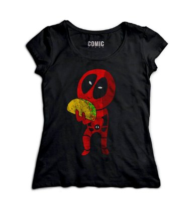Camiseta Feminina Deadpool - Tacos