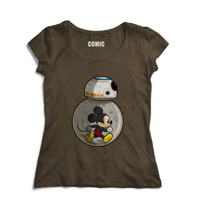 Camiseta Feminina BB-8 Mickey