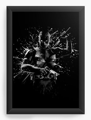 Quadro Decorativo Deadpool Black