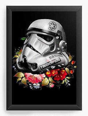 Quadro Decorativo Star Wars - Stormtrooper Flowers