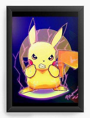 Quadro Decorativo Pikachu - Pokemon