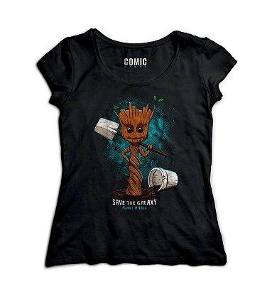 Camiseta Feminina Guardiões da Galáxia - Filme