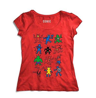 Camiseta Feminina Super Herois