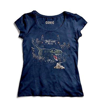 Camiseta Feminina Jurassic Park - Mundo Perdido