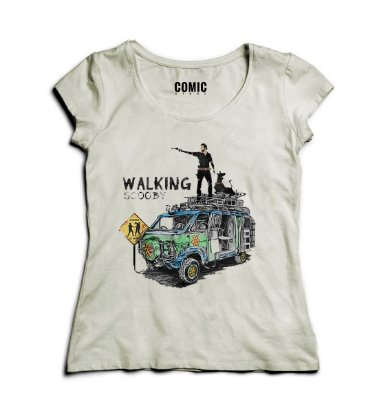 Camiseta Feminina The Walking Scooby