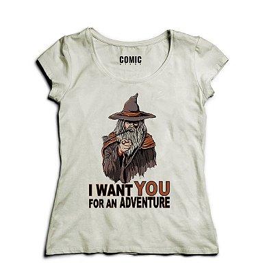Camiseta Feminina I Want You - Senhor dos Aneis