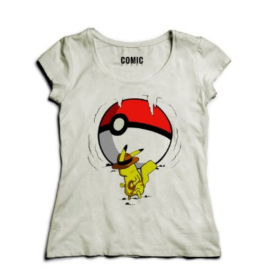 Camiseta Feminina Pikachu - Pokemon Go