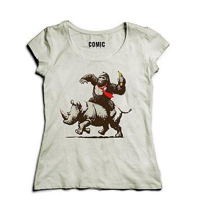 Camiseta Feminina Monkey Crazy