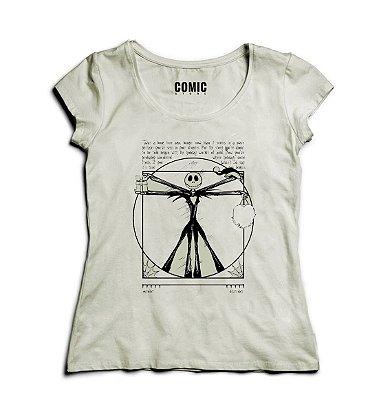 Camiseta Feminina Jack Skellington