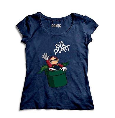 Camiseta Feminina Super mario - The evil Plant