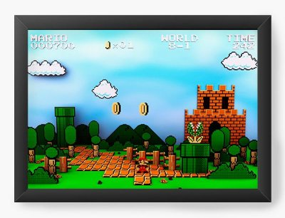 Quadro Decorativo Super Mario - Word