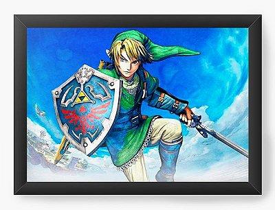 Quadro Decorativo The Legend of Zelda Link in the sky