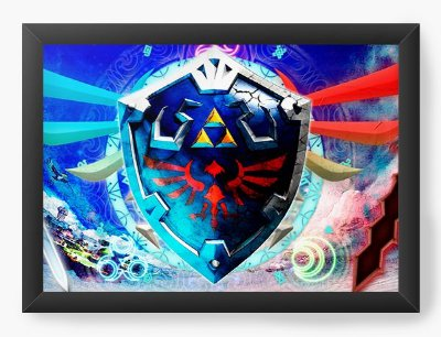 Quadro Decorativo The Legend of Zelda Colorful Triforce