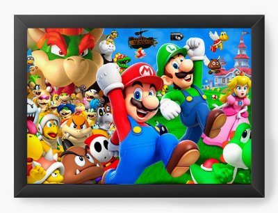 Quadro Decorativo Super Mario e Luigi