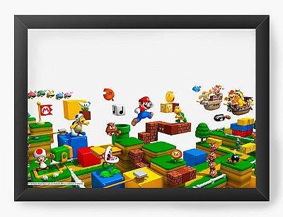 Quadro Decorativo Super Mario e sua Turma