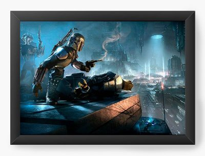 Quadro Decorativo Boba - Star Wars