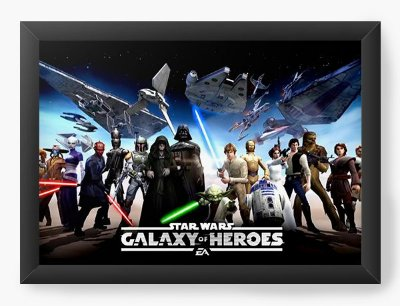 Quadro Decorativo Star Wars - Galaxy of Heroes