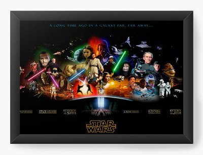 Quadro Decorativo Star Wars - Space
