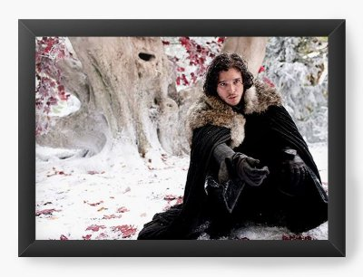 Quadro Decorativo Game of Thrones - Jon Snow