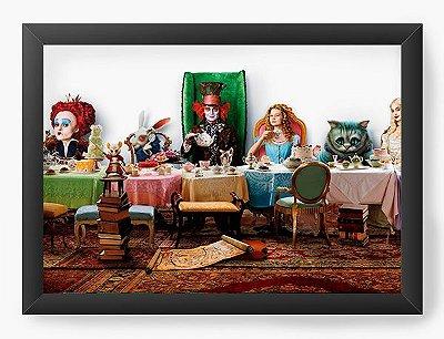 Quadro Decorativo Alice no País das Maravilhas - Chapeleiro louco