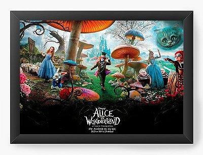 Quadro Decorativo Alice no País das Maravilhas - Elenco