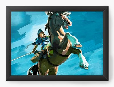 Quadro Decorativo The Legend of Zelda Horse