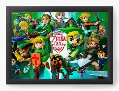 Quadro Decorativo The Legend of Zelda 25th Anniversary