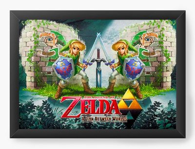 Quadro Decorativo The Legend of Zelda A Link Between Worlds