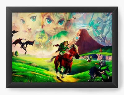 Quadro Decorativo The Legend of Zelda Breath of the Wild