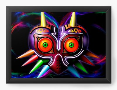 Quadro Decorativo The Legend of Zelda Majora's colorful Mask