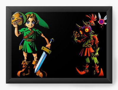 Quadro Decorativo The Legend of Zelda Link and Majora's Mask
