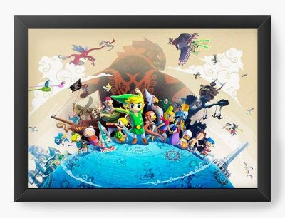 Quadro Decorativo The Legend of Zelda On top of the World